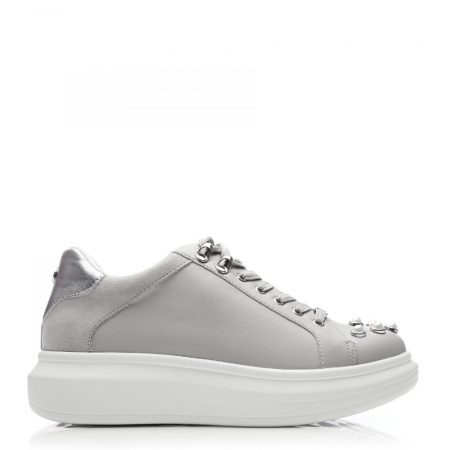 All Trainers | Moda in Pelle Womens Agnetha Grey Porvair Grey