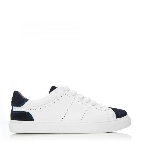 All Trainers   Moda in Pelle Womens Alateisha White-Navy Leather White-Navy