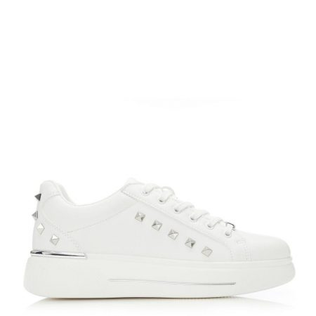 All Trainers | Moda in Pelle Womens Arixy White Porvair White