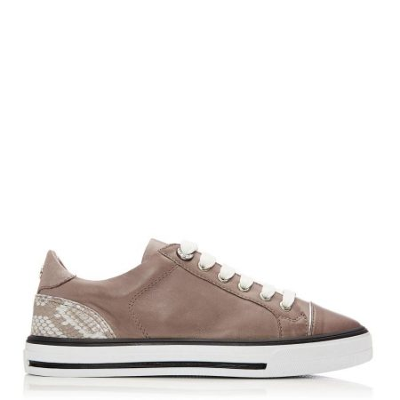All Trainers | Moda in Pelle Womens Esitti Taupe Leather Taupe