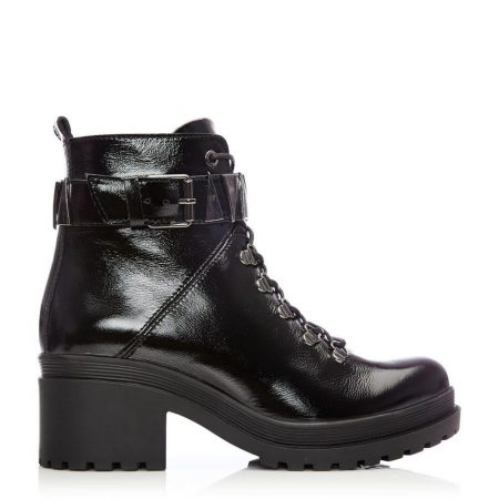 Ankle Boots | Moda in Pelle Womens Allisa Black Patent Leather Black