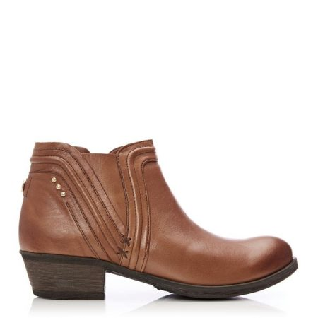 Ankle Boots   Moda in Pelle Womens Alyss Tan Leather Tan