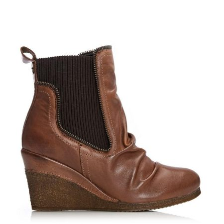 Ankle Boots | Moda in Pelle Womens Annamay Tan Leather Tan
