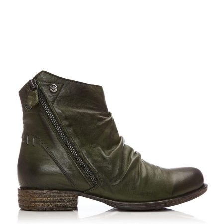 Ankle Boots | Moda in Pelle Womens Annika Green Leather Green