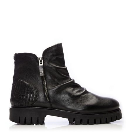 Ankle Boots | Moda in Pelle Womens Ashleigh Black Leather Black