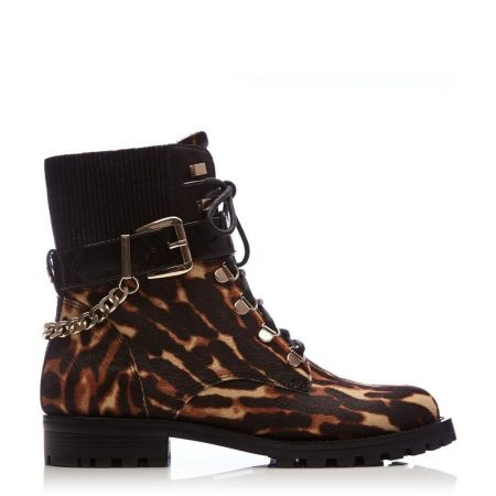 Ankle Boots | Moda in Pelle Womens Belassy Tiger Textured Animal Print Tiger