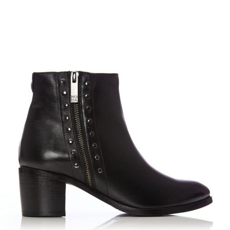 Ankle Boots | Moda in Pelle Womens Beula Black Leather Black