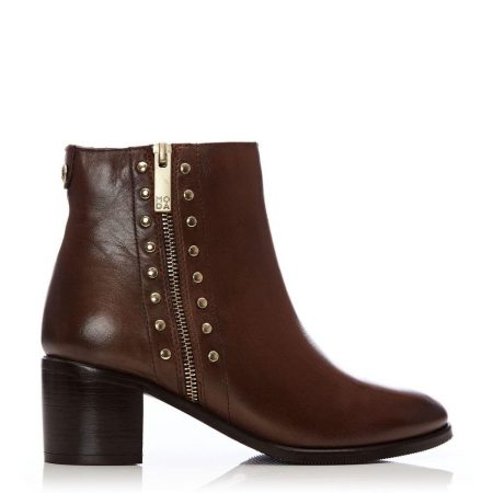 Ankle Boots | Moda in Pelle Womens Beula Tan Leather Tan