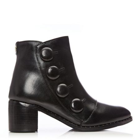 Ankle Boots | Moda in Pelle Womens Beverle Black Leather Black