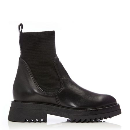 Ankle Boots | Moda in Pelle Womens Blade Black Leather Black