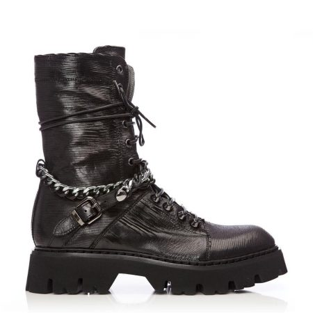 Ankle Boots | Moda in Pelle Womens Brixa Black Leather Black
