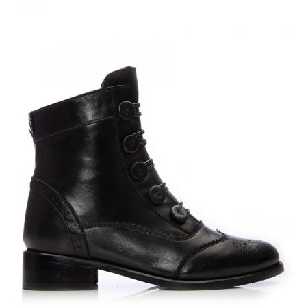 Ankle Boots | Moda in Pelle Womens Brodie Black Leather Black