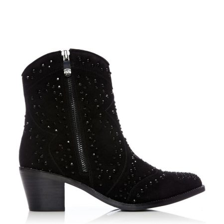 Ankle Boots | Moda in Pelle Womens Calita Jet Black Suede Jet