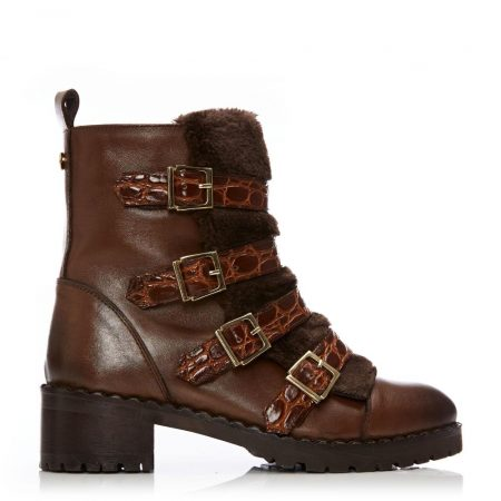 Ankle Boots | Moda in Pelle Womens Channie Tan Leather Tan
