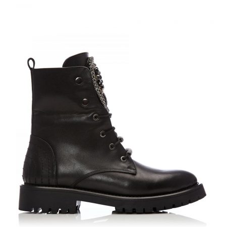 Ankle Boots | Moda in Pelle Womens Chantenay Black Leather Black