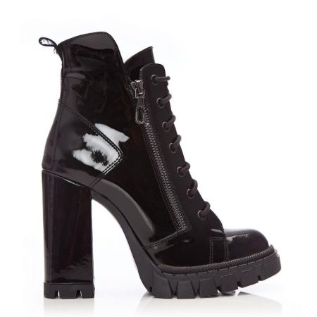 Ankle Boots | Moda in Pelle Womens Kait Black Patent Leather Black