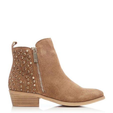 Ankle Boots | Moda in Pelle Womens Karinna Tan Suede Tan