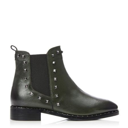 Ankle Boots | Moda in Pelle Womens Kassy Green Leather Green