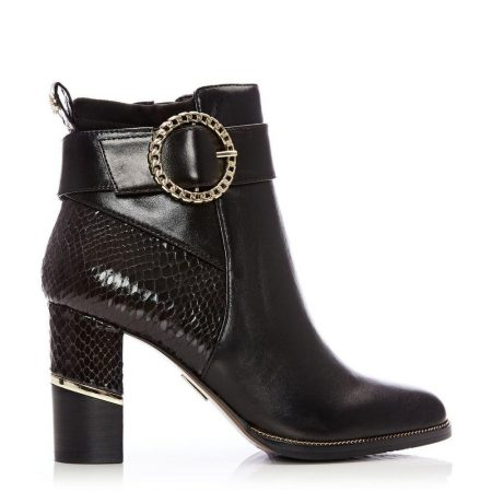 Ankle Boots | Moda in Pelle Womens Kimber Black Leather Black