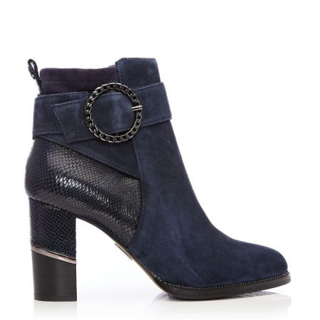 Ankle Boots | Moda in Pelle Womens Kimber Navy Suede Navy