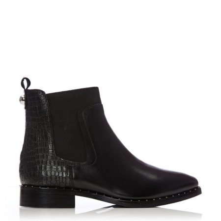 Ankle Boots | Moda in Pelle Womens Leilana Black Leather Black