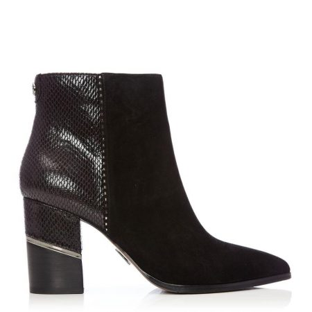 Ankle Boots | Moda in Pelle Womens Linirre Black Suede Black