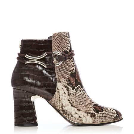 Ankle Boots | Moda in Pelle Womens Lorile Brown Snake Snake Print Brown