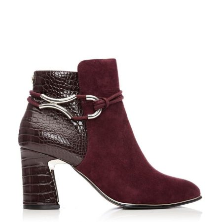 Ankle Boots | Moda in Pelle Womens Lorile Burgundy Suede Burgundy