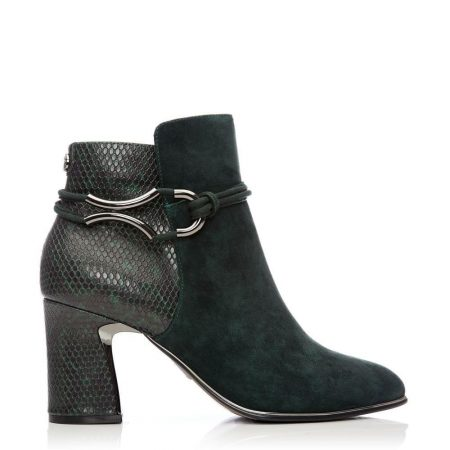 Ankle Boots | Moda in Pelle Womens Lorile Green Suede Green