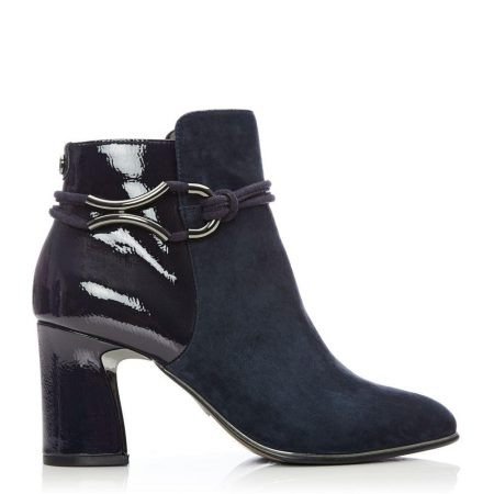 Ankle Boots | Moda in Pelle Womens Lorile Navy Suede Navy