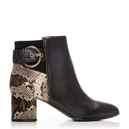 Ankle Boots | Moda in Pelle Womens Marlee Black Leather Black