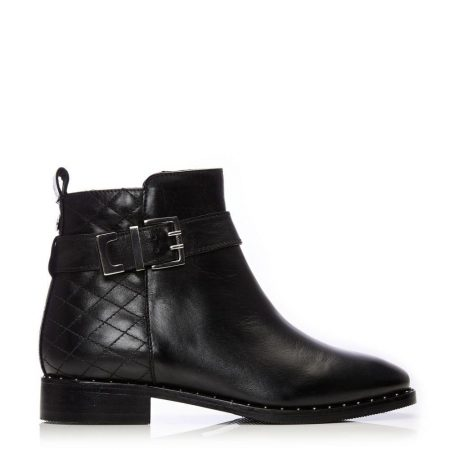 Ankle Boots   Moda in Pelle Womens Milisia Black Leather Black