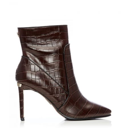 Ankle Boots | Moda in Pelle Womens Nyah Brown Croc Brown