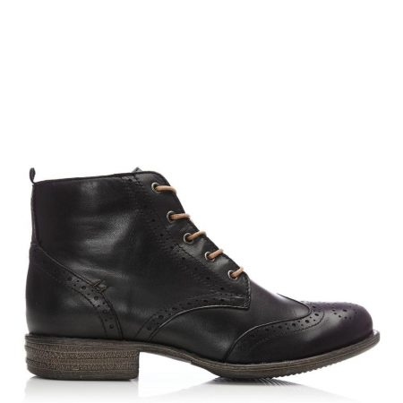 Ankle Boots | Moda in Pelle Womens Sh Bethany Black Leather Bethany