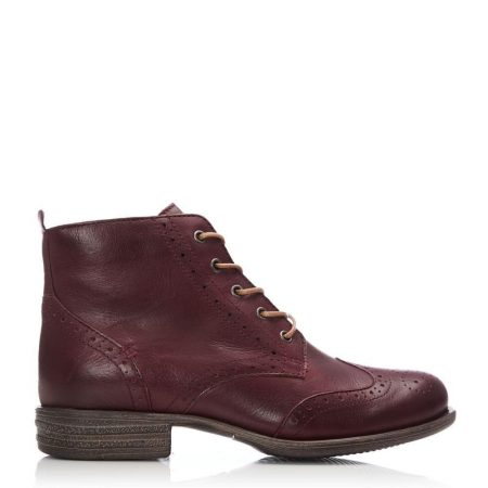 Ankle Boots | Moda in Pelle Womens Sh Bethany Burgundy Leather Bethany