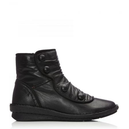 Ankle Boots   Moda in Pelle Womens Sh Linna Black Leather Linna
