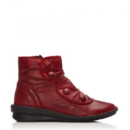 Ankle Boots   Moda in Pelle Womens Sh Linna Red Leather Linna