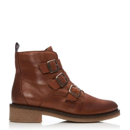 Ankle Boots | Moda in Pelle Womens Sh Strapp Tan Leather Strapp