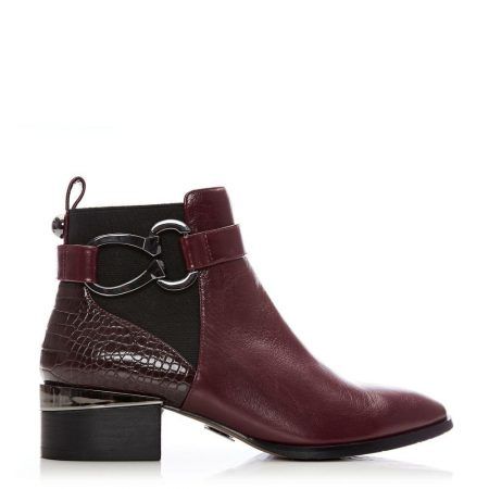 Ankle Boots | Moda in Pelle Womens Tyanna Burgundy Leather Burgundy