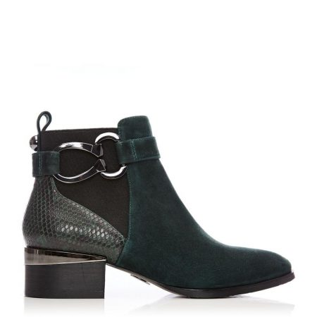 Ankle Boots   Moda in Pelle Womens Tyanna Green Suede Green