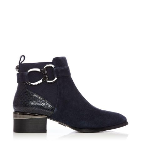 Ankle Boots | Moda in Pelle Womens Tyanna Navy Suede Navy