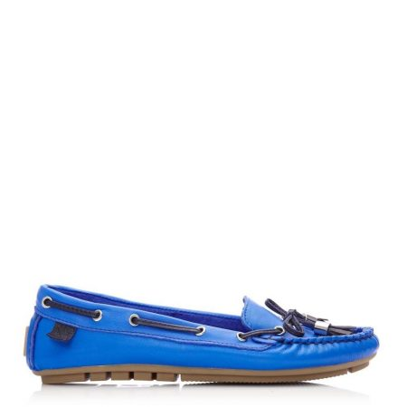 Brogues And Loafers | Moda in Pelle Womens Amusement Cobalt Blue Leather Cobalt