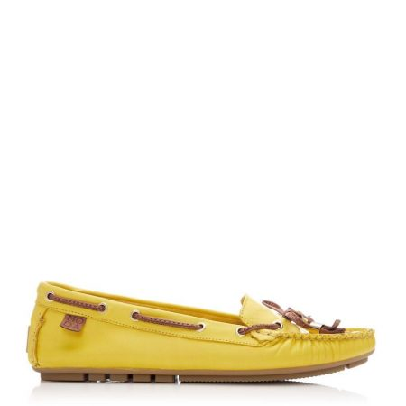 Brogues And Loafers | Moda in Pelle Womens Amusement Yellow Leather Yellow