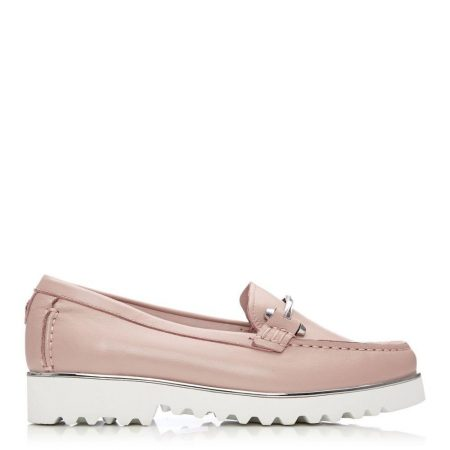 Brogues And Loafers | Moda in Pelle Womens Aretina Nude Leather Nude