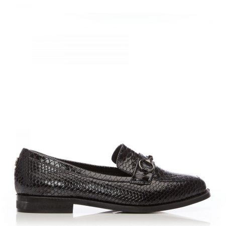 Brogues And Loafers | Moda in Pelle Womens Edlisa Navy Snake Print Navy