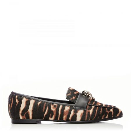 Brogues And Loafers | Moda in Pelle Womens Eleni Tiger Textured Animal Print Tiger
