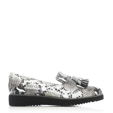 Brogues And Loafers | Moda in Pelle Womens Elzora Mono Snake Snake Print Mono