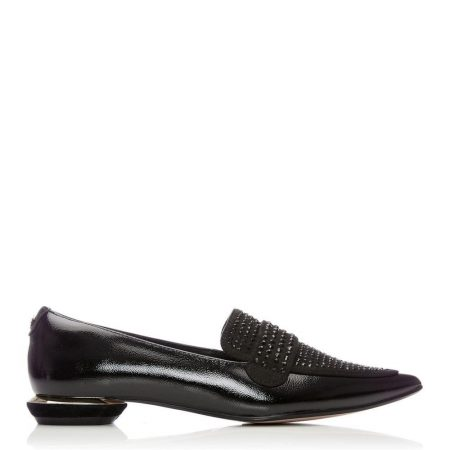 Brogues And Loafers | Moda in Pelle Womens Estabenna Black Patent Leather Black