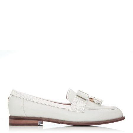 Brogues And Loafers | Moda in Pelle Womens Estella Off White Leather Off