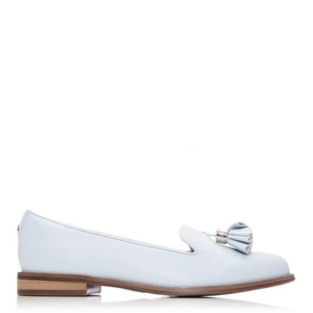 Brogues And Loafers | Moda in Pelle Womens Exie Light Blue Leather Light